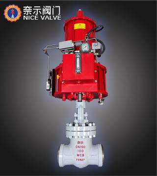 Z661H-100型气动对焊闸阀