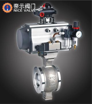 VQ670H气动V型对夹球阀